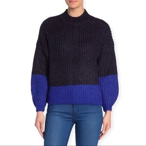 NWT Elodie Colorblock Mock Neck Sweater Large